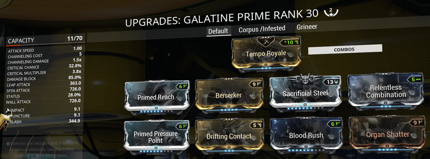 Galatine, Siren Watcher, sirenwatcher, warframe, warframe weapon builds, weapon builds, weapons