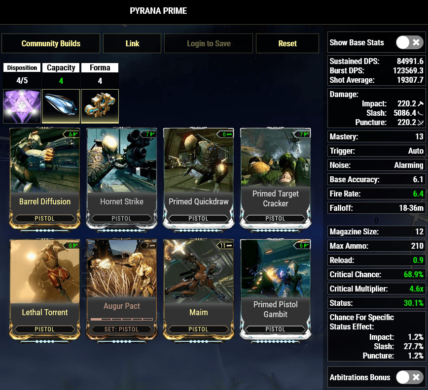 Pyrana, Siren Watcher, sirenwatcher, warframe, warframe weapon builds, weapon builds, weapons