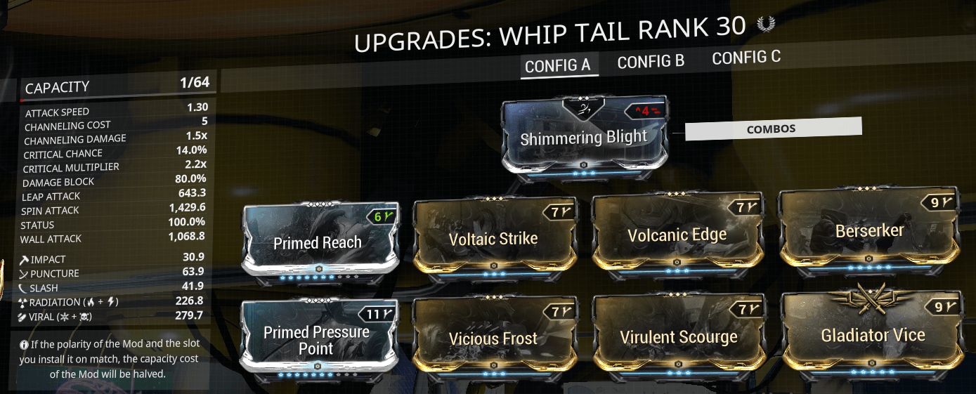 Zaw, Siren Watcher, sirenwatcher, warframe, warframe weapon builds, weapon builds, weapons